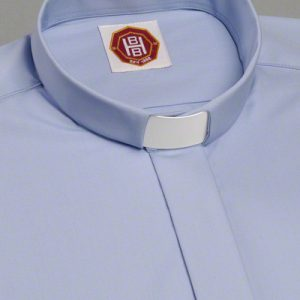 febd5da305 Pure Cotton Light Blue Tunnel Clerical Shirt   Light Blue Clergy Shirt  (long or short sleeves)