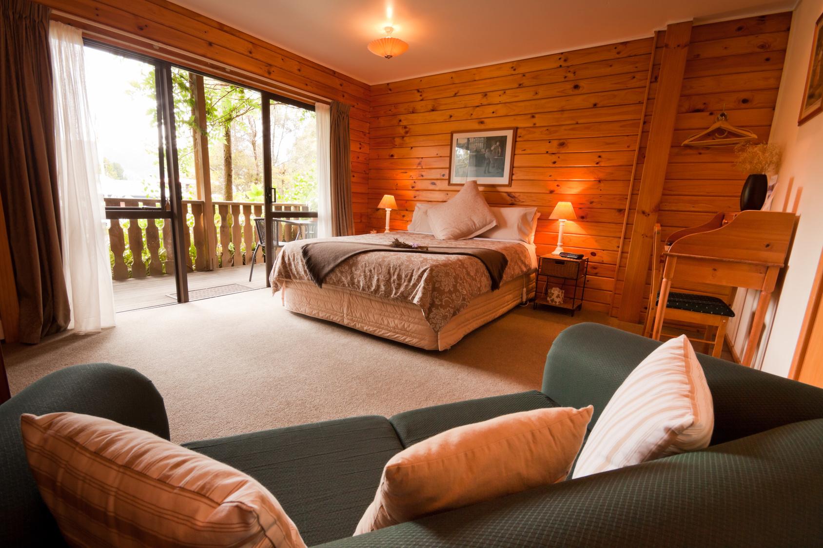 Interior of lodge cabin room