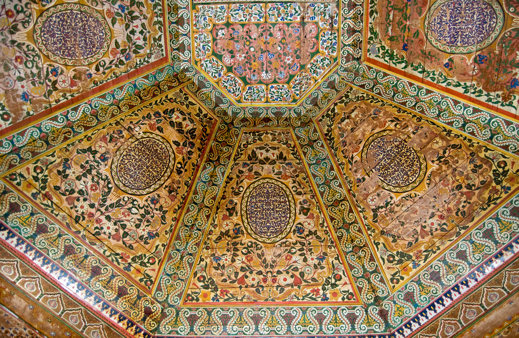 Hand Painted Painted wooden ceiling
