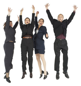 People Jumping with Joy